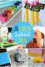 20 FUN Back 2 School Ideas! Tips, crafts, and organization! { lilluna.com }