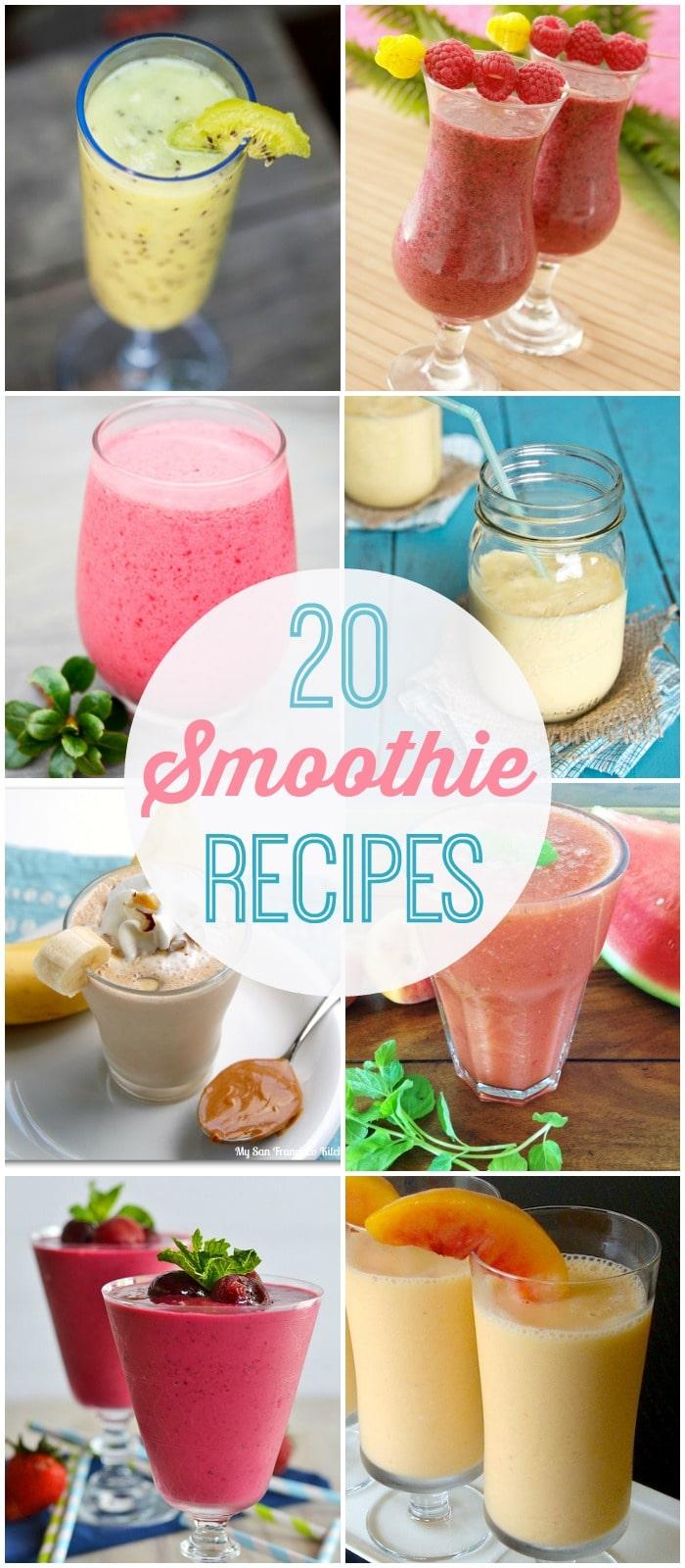 20 smoothie recipes - perfectly refreshing treats for those hot summer days! { lilluna.com }