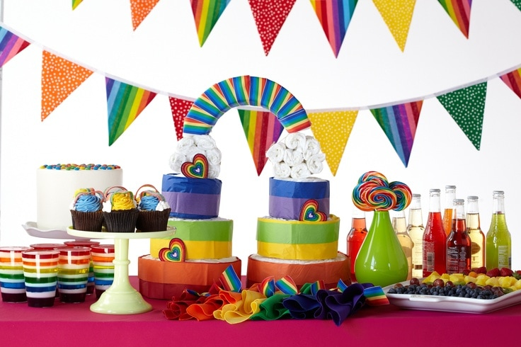 rainbows baby shower theme from huggies baby shower planner