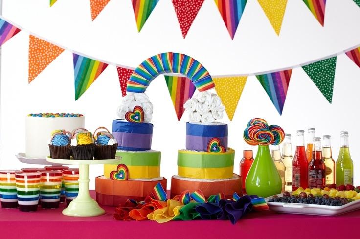 rainbows baby shower theme from huggies baby shower planner