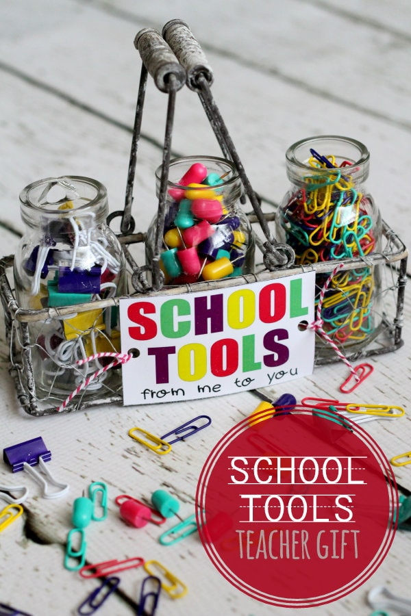 ADORABLE School Tools Set and Free Print perfect for teacher { lilluna.com } #teachergift