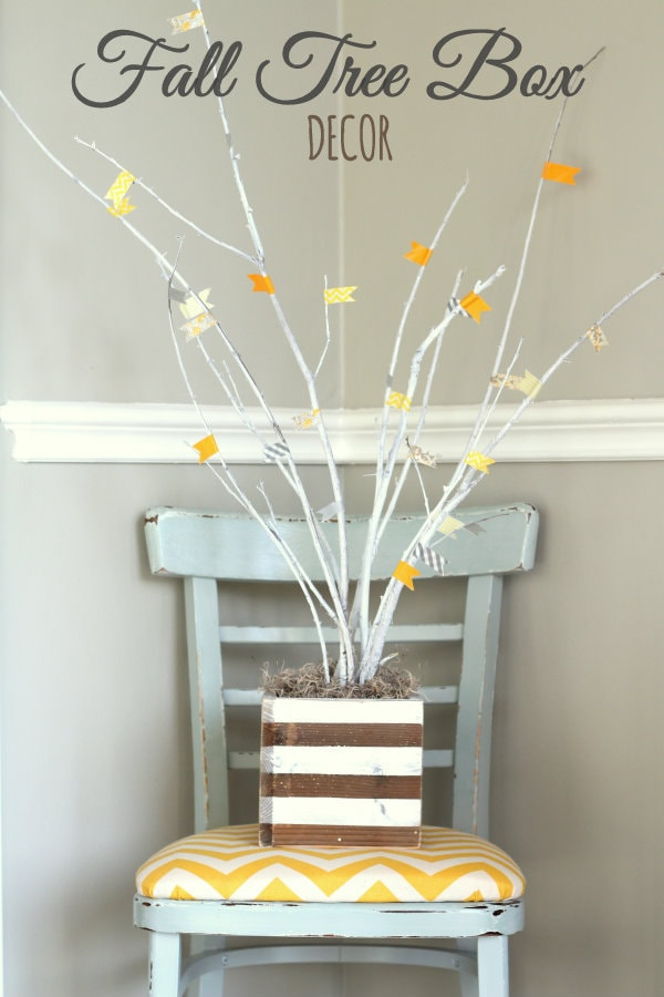 Beautiful Fall Tree Box Craft { lilluna.com } Use as decor or give as a gift!