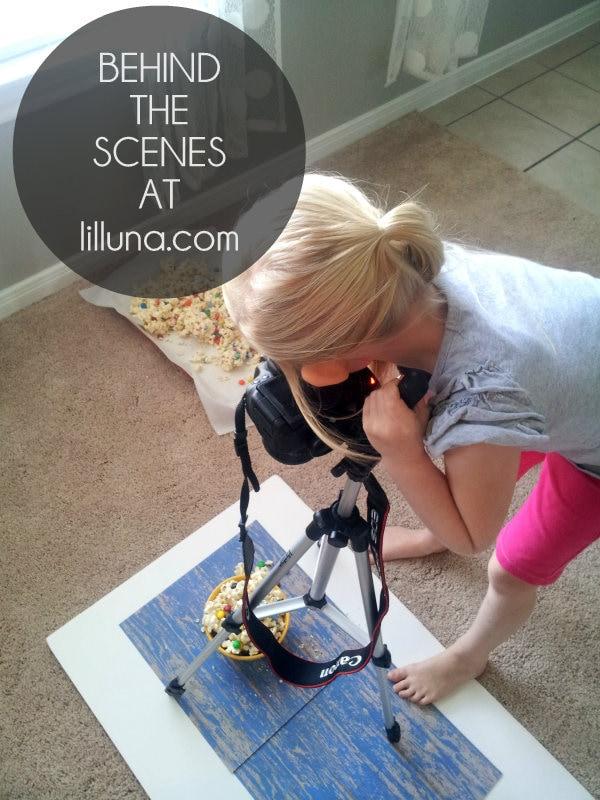 Behind the Scenes - White Chocolate M&M Popcorn