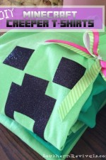 DIY Minecraft Creeper Shirts