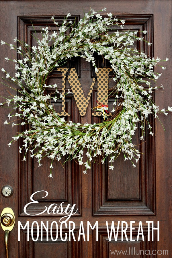 Easy And Cute Monogram Wreath Lilluna All You Need To Make This