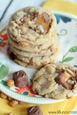 Milky Way Caramel Cookies on { lilluna.com } #cookies #milkyway