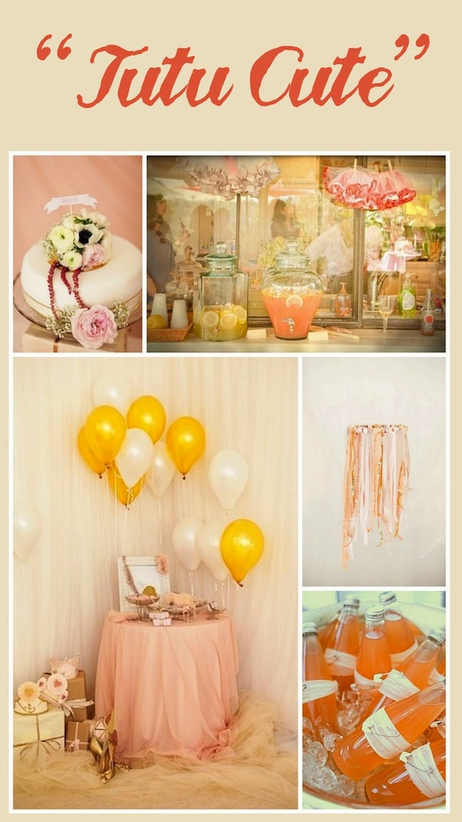 tutu cute baby shower theme from linen lace and love