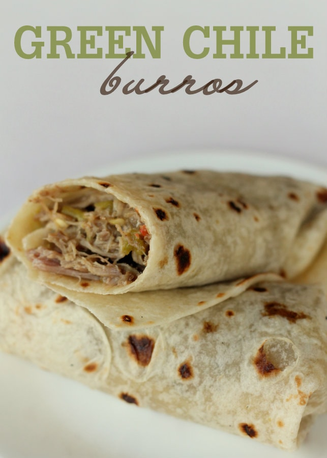 The easiest and best Green Chile Burros ever! { lilluna.com } Little ingredients, including chuck roast, 505 green chile sauce, brown gravy dry mix, italian seasoning, and ranch dry mix and the crockpot does all the work!