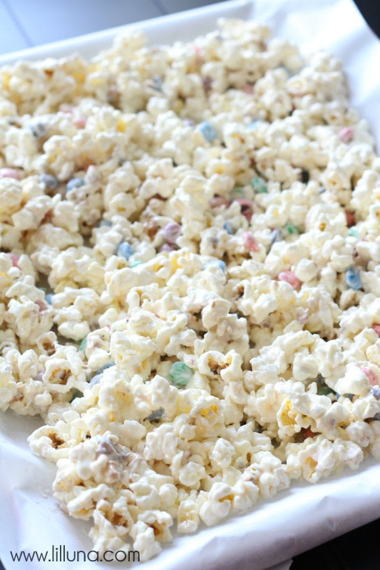 White Chocolate M&M Popcorn - 1