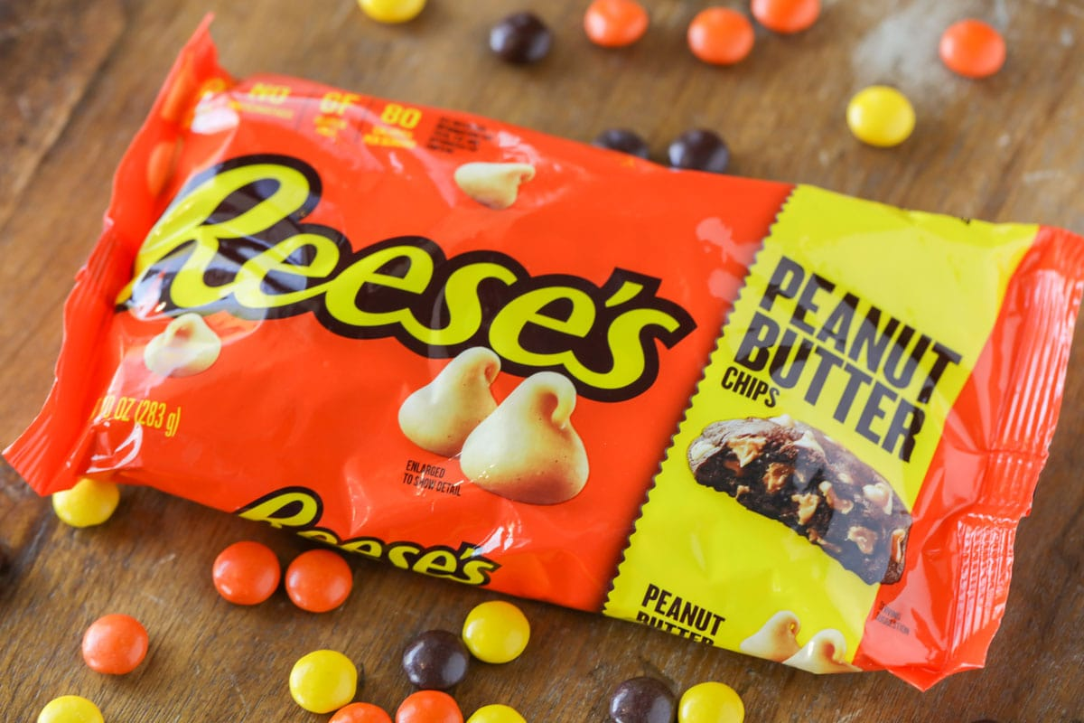 Reese's peanut butter chips to use in Reese's Pieces Cookie recipe