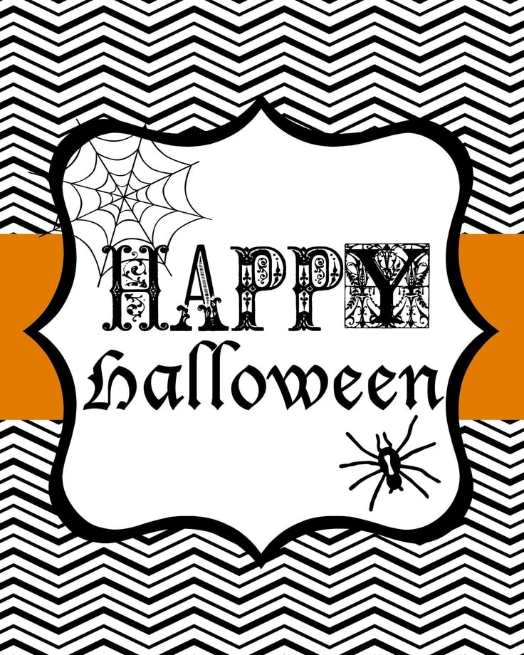 This is a graphic of Persnickety Free Printable Halloween Decorations