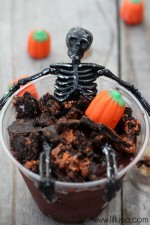 Skeleton Pudding Cups