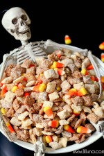 Black and White Halloween Puppy Chow