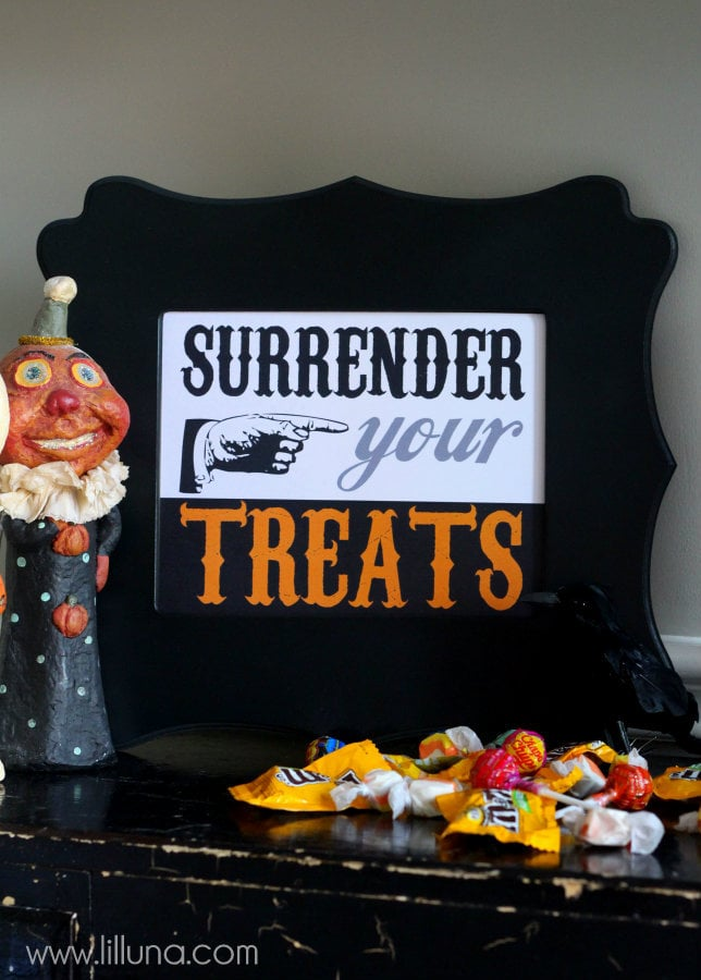 FREE Surrender Your Treats Printable
