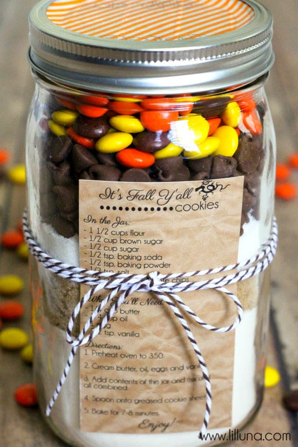 Fall Cookies In A Jar Gift