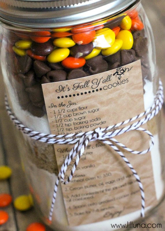 Fall Cookies in a Jar Gift_