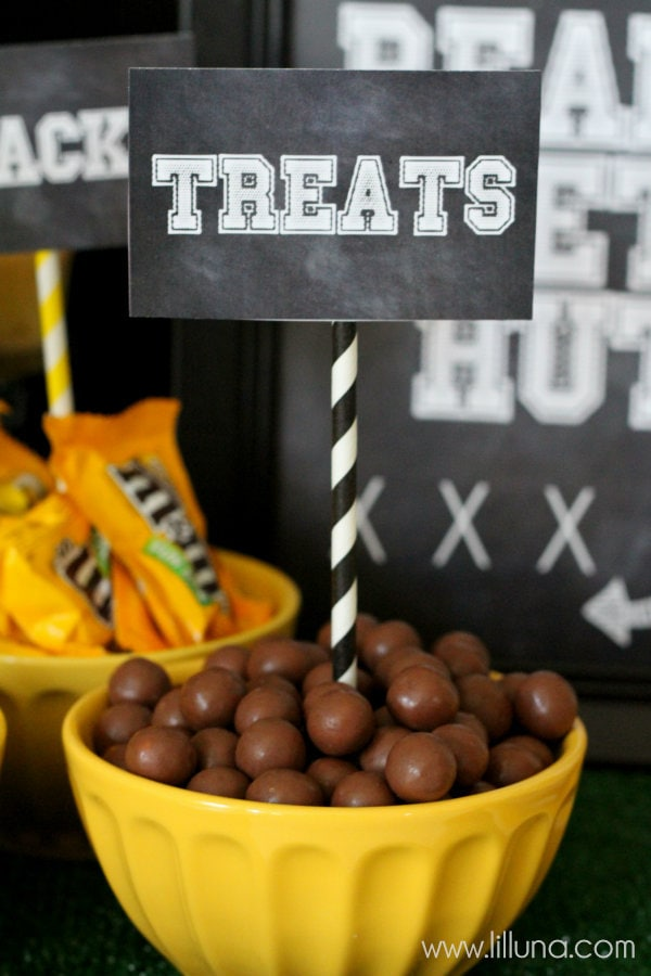 Football Party Ideas. Great ideas from food to decor to help you throw an awesome game party!