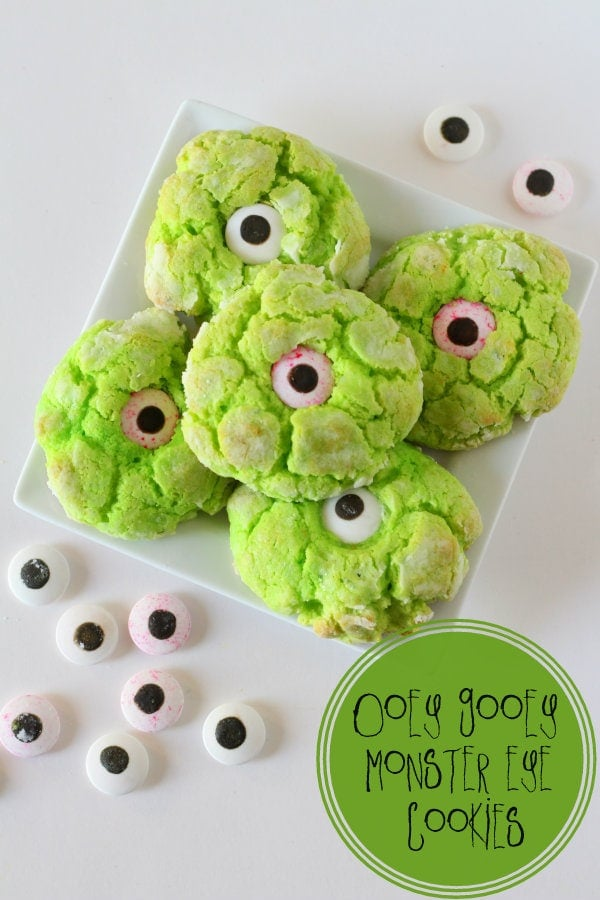 Ooey Gooey Monster Eye Cookies Recipe - so good and perfect for ...