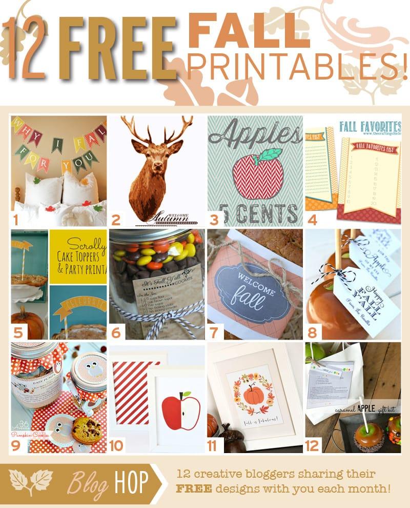 12 FREE Fall Printables { lilluna.com }