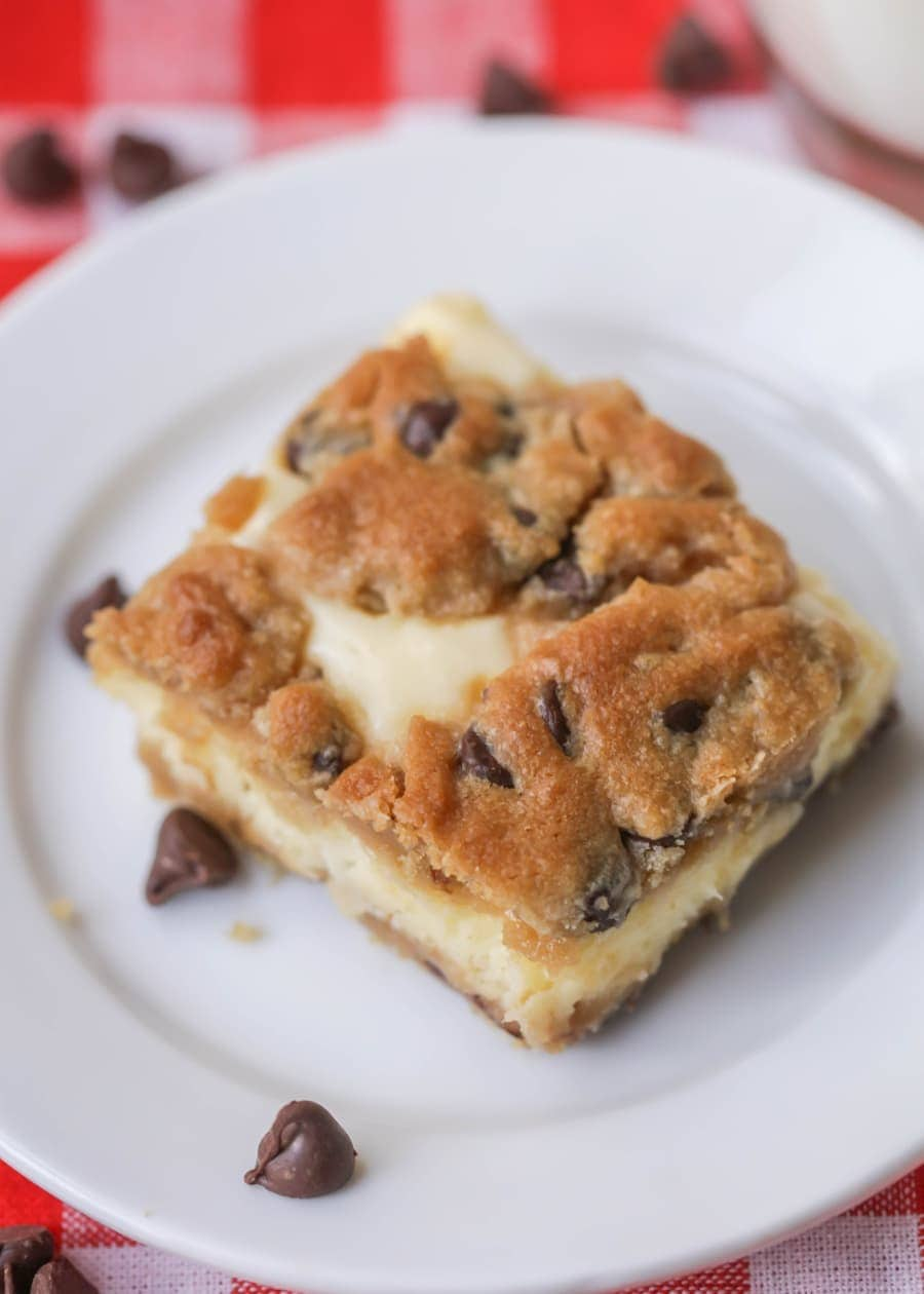 Chocolate Chip Cheesecake Bars: