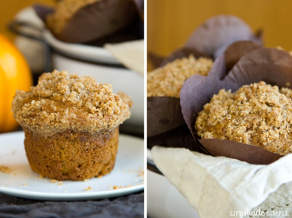 biscoff pumpkin muffins with wrapping and without