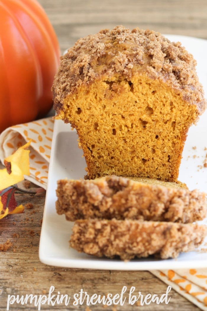This soft and delicious Pumpkin Streusel Bread recipe is filled with the flavors of fall!