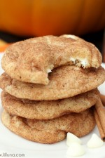 White Chocolate Pumpkin Spice Snickerdoodles