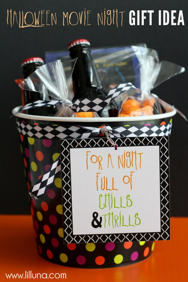 Halloween Gift Basket Ideas For Adults.Halloween Movie Night Gift Idea