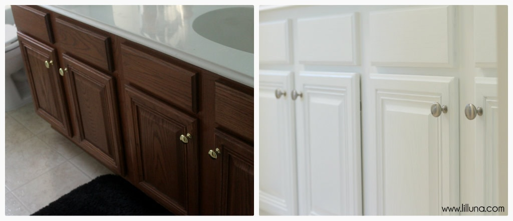 Bathroom Makeover on { lilluna.com } Great ideas & tips to help inspire your own remodel!