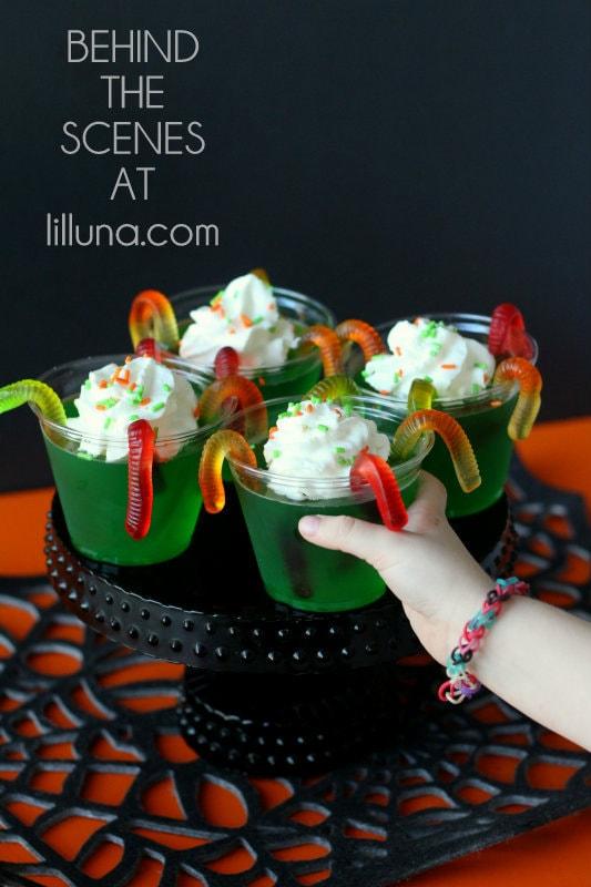 Behind the Scenes - Gummy Worm Jello Cups
