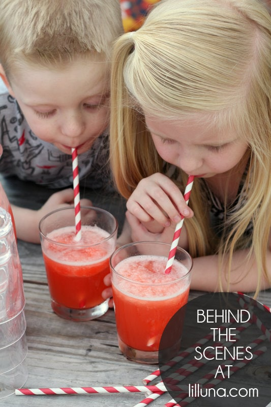 Behind the Scenes - Red Slushy Punch Recipe