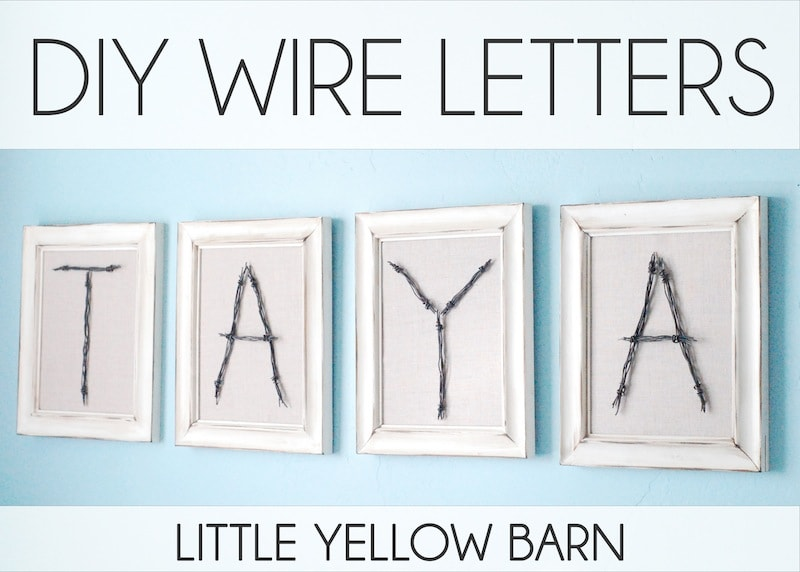 DIY Wire Letters Tutorial on { lilluna.com } So cute!! Not hard to do and such a great decor idea!