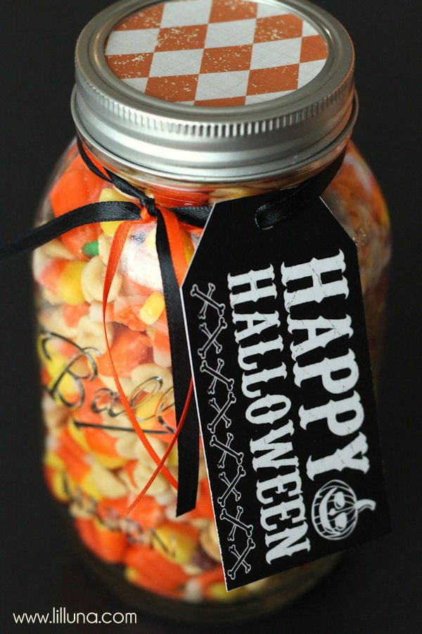 FREE Happy Halloween Tags to use for a cute and simple gift ideas { lilluna.com }