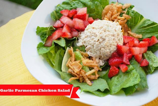 Garlic Parmesan Chicken Salad