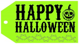 Halloween-HappyHalloweenTagGREEN