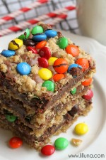 M&M Chocolate Oat Bars