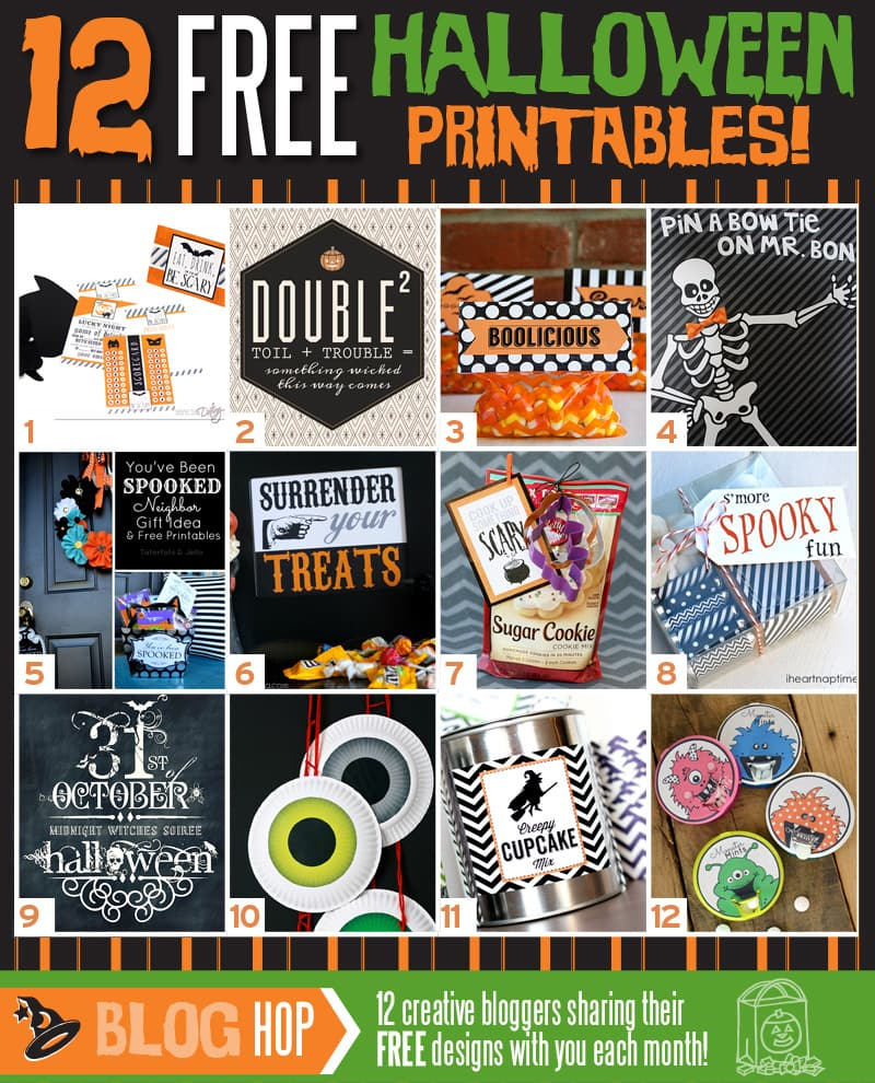 12 FREE Halloween Printables on { lilluna.com } Use for so many things!