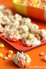 Quick and delicious White Chocolate Candy Corn Krispies