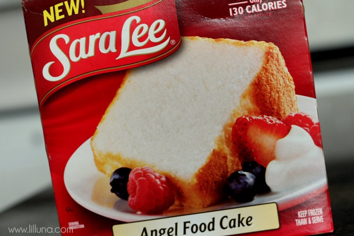 Sara Lee Angel Food Cake 1 cup sugar ¼ cup cinnamon oil
