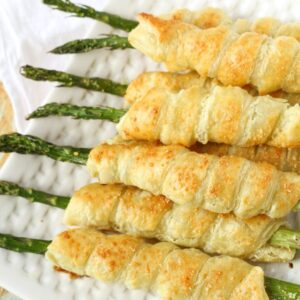 asparagus puff pastry with cream cheese