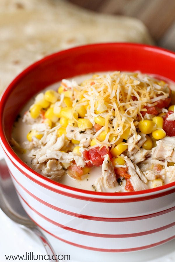 Mexican Chicken & Corn Soup