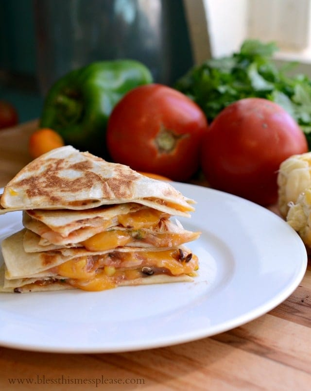 Black Bean, Quinoa and Corn Quesadillas Recipe