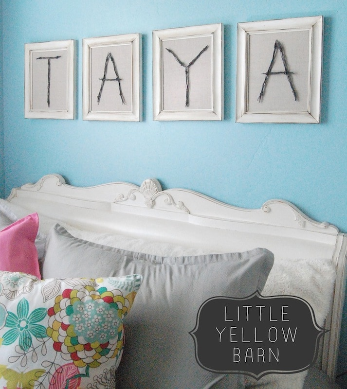 DIY Wire Letters Tutorial on { lilluna.com } What a fun way to showcase your name or initials!