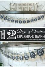 12 Days of Christmas Chalkboard Banner