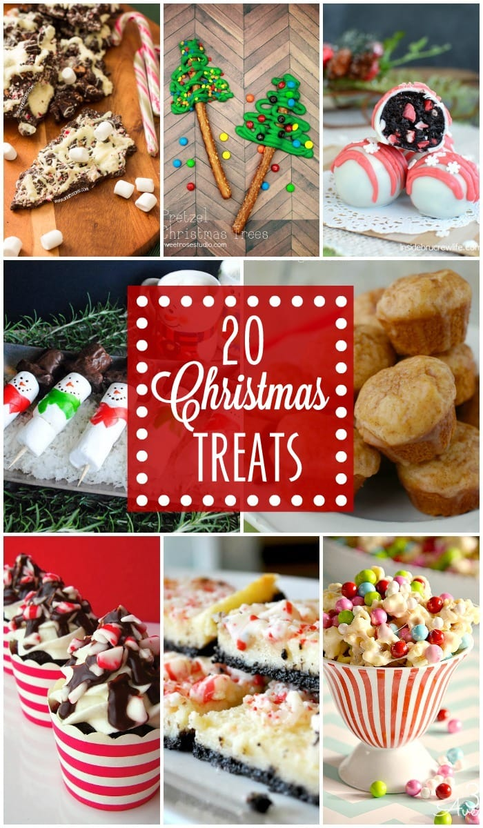 20 Christmas Treats - so festive, cute, AND tasty!! { lilluna.com } Muffins, cake pops, bark, and lots, lots more!