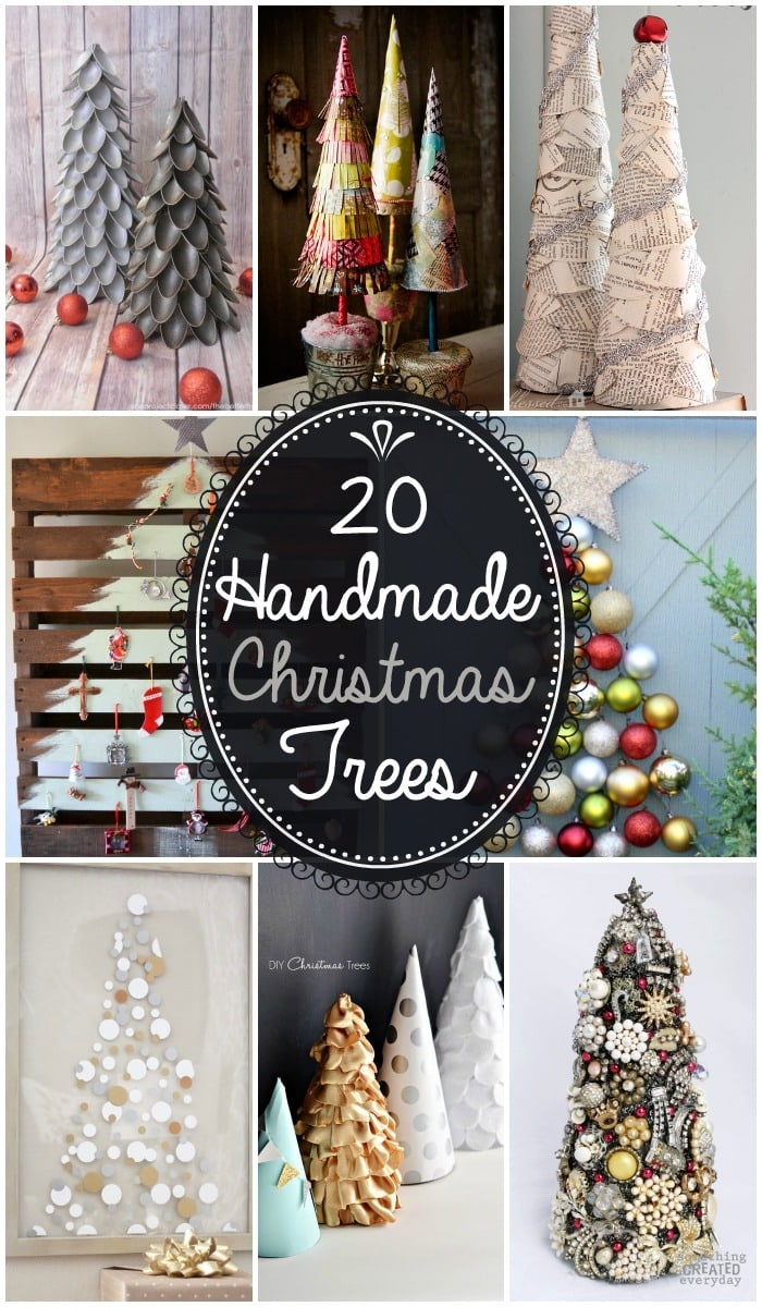 A beautiful collection of 20 Handmade Christmas Trees - Such cute and easy Christmas decor!! { lilluna.com }