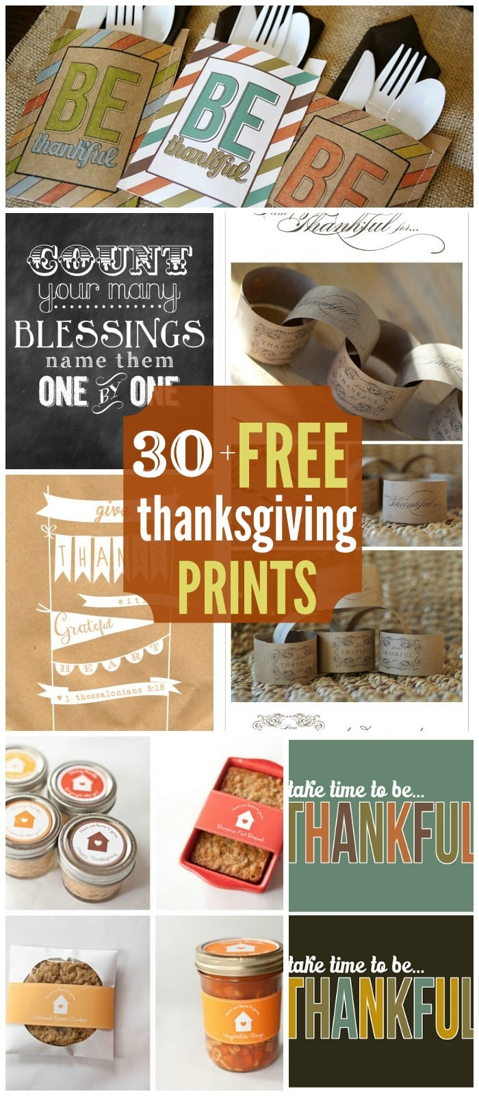 30+ FREE Thanksgiving Printables on { lilluna.com } Great prints to use for so many things.