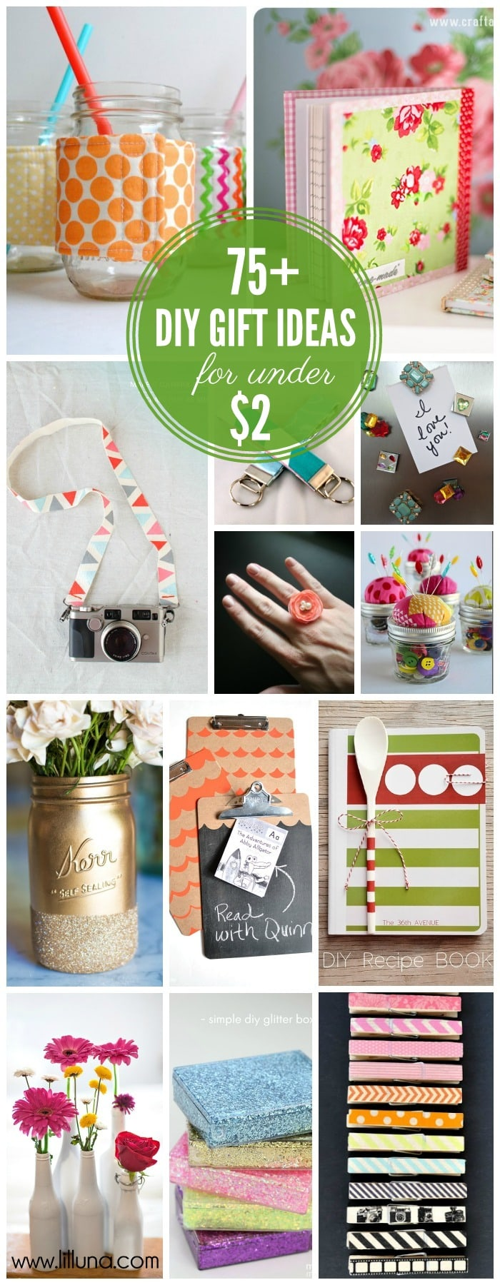 75+ Awesome Handmade Gift Ideas For Under $2!! { lilluna.com } #giftideas #gifts