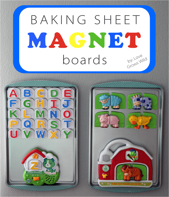 Baking Sheet Magnet Board with Title