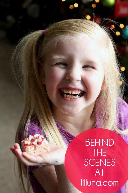 Behind the Scenes - Peppermint Crunch Fudge